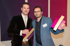 Gewinner Best Innovative Idea: Jan Lohrengel (Hastings), Willy Kaussen (Scholz & Friends)
